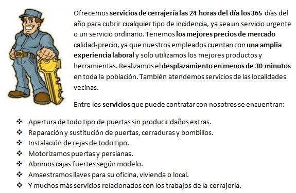 Servicios cerrajeros Mejorada del Campo 24h con apertura de puertas